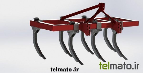 design chizel plow in solidwork
