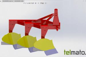 طراحی گاوآهن برگرداندار در سالیدورک
