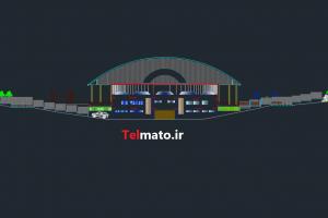 طراحی پلان استادیوم در اتوکد