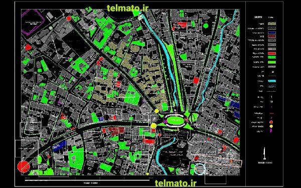 دانلود نقشه های اتوکد utm و کاداستر تهران کلیه منظقه ها DWG تلماتو