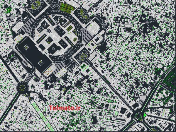 دانلود رایگان نقشه اتوکد شهر مشهد dwg + طرح تفضیلی