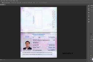 پاسپورت و آیدی کارت لایه باز اندونزی psd passport