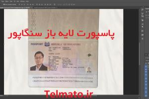 دانلود فایل لایه باز پاسپورت سنگاپور pdf